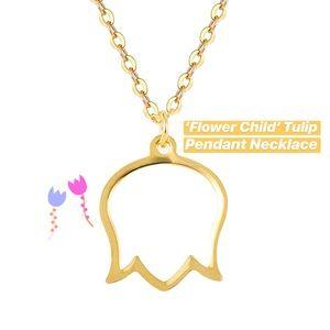 Tulip Pendant Gold Necklace